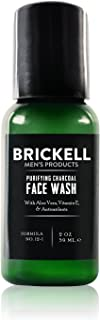 Brickell Men's Purifying Charcoal Face Wash for Men, Natural and Organic Daily Facial Cleanser, 2 Ounce, Scented