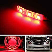 iJDMTOY (2) v2. Red 3-SMD-5050 LED Modules For Car Motorcycle Projector Headlight Demon Eyes Retrofit
