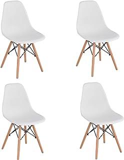 KunstDesign Set de 4 Sillas de Comedor, Diseño Ergonómico,