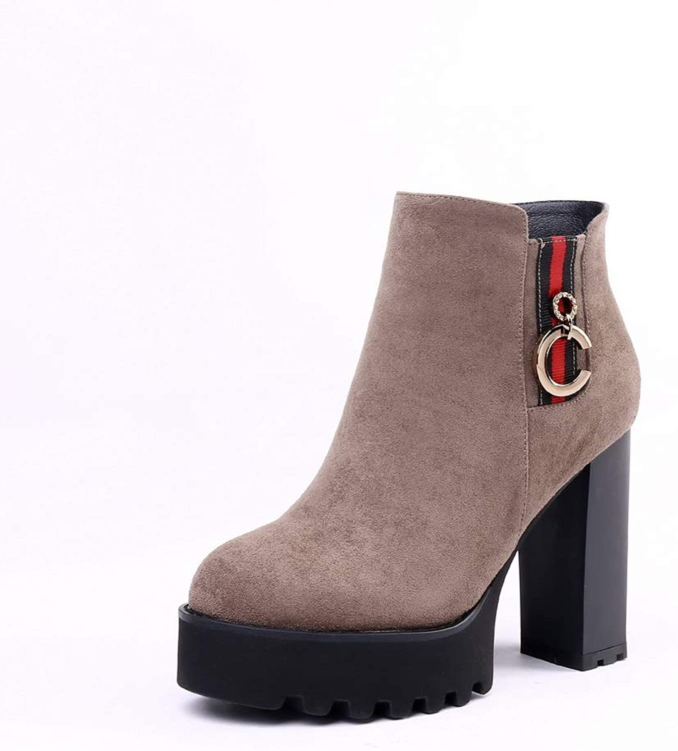 1TO9 Womens High-Heels Charms Platform Urethane Boots MNS03448