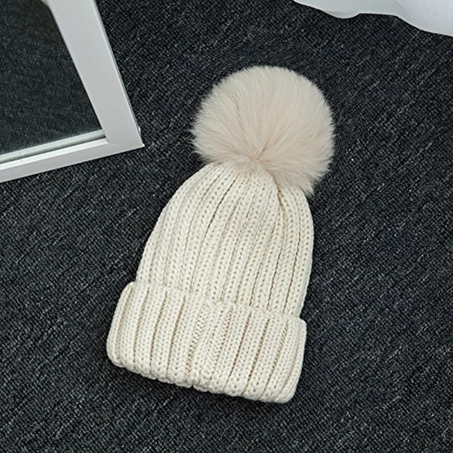 Syksdy Autumn and winter lady fashion knitted cap thickening warm wool cap