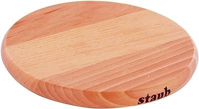 "STAUB 41190732 Round Magnetic Wood Trivet, 6"" Brown"