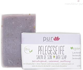 Manufaktur Pur Bio Sheabutter-Naturseife Lavendel Lavendelseife 100 g