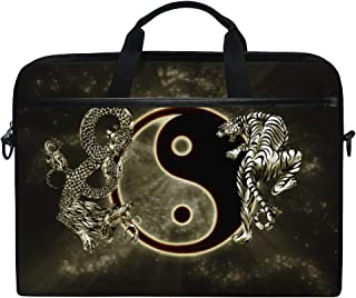 7646d7cf2a Jstel Tigre de dragon chinois Tai BAGUA Yin Yang Noir et blanc Sac à  bandoulière Case