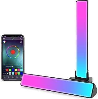 Zuukoo Smart LED Lampe, RGB Smart Lampe Bureau avec Effets D'éclairage Multiples et Musique, Gaming Lampe, Lumière D'ambia...