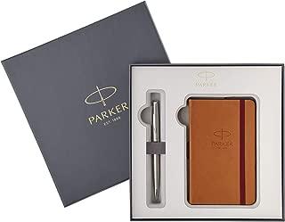 Parker Sonnet Stainless Steel Fountain Pen + Notebook Set