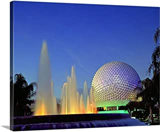 Florida, Orlando, Epcot Center by Night Canvas Wall Art Print, 20