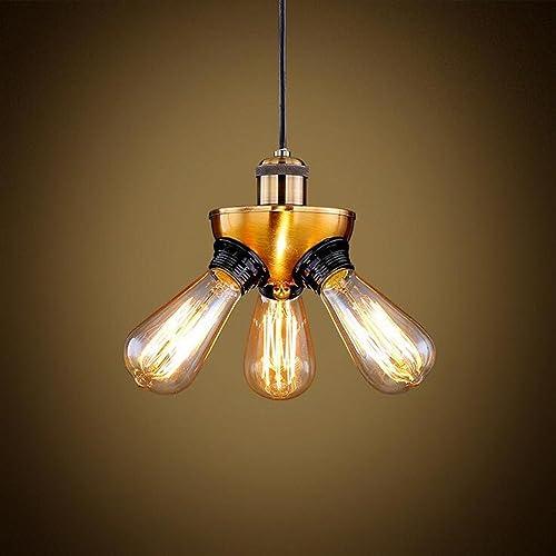 Américain style ombre en fer lampe à trois pattes lampe de salon de chambre lampe personnelle ancienne ouvragée
