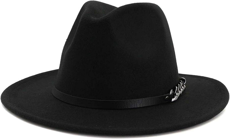Gossifan Men & Women Belt Buckle Fedora Hat Wide Brim Floppy Panama Hat