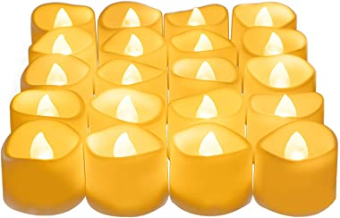 Beichi Upgraded LED Tea Lights Bulk, Set of 24 Flameless Fake Realistic Tea Lights Votive Candles Battery Operated, Electric