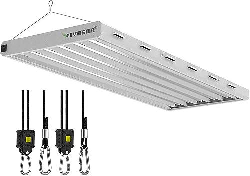 new arrival VIVOSUN discount popular 6500K 4FT T5 Grow Light with 1-Pair 1/8 Inch Rope Hanger online