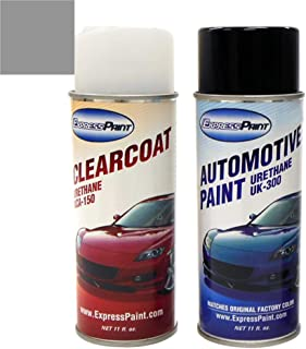 ExpressPaint Aerosol - Automotive Touch-up Paint for Toyota Tundra - Silver Sky Metallic 1D6 - Color + Clearcoat Package