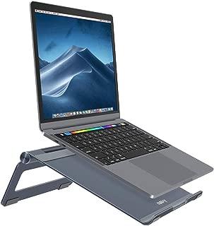 ノートパソコン スタンド ひざ上テーブル Nulaxy ノートPCスタンド 7~17インチ対応 角度調整可能 滑り止め アルミ製 Macbook/iPad//Sony/Lenova/Samsung/ラップトップに対応 銀