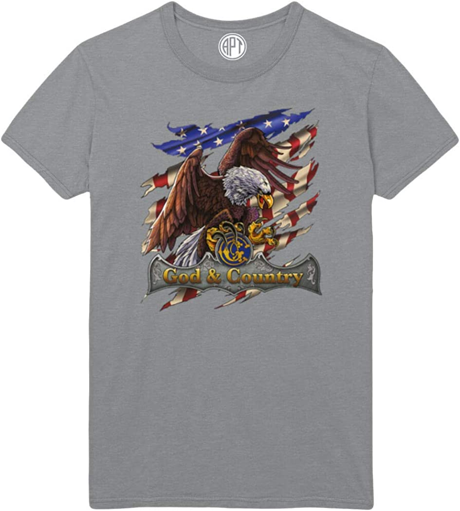 God and Country Eagle Printed T-Shirt