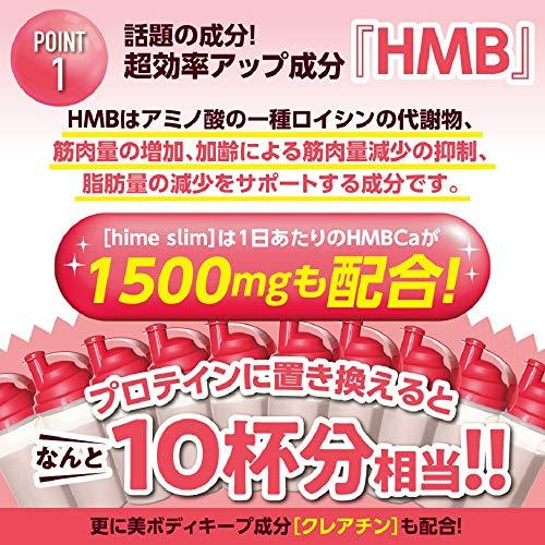 【Amazon限定】[公式]女性用ダイエットサプリHimeSlim(姫スリム)HMB120粒+クレアチン+燃焼+美容成分+ビタミン(国内生産)