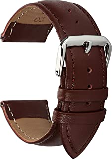 BONSTRAP Genuine Leather Watch Band Strap Replacement Black Blue Optional Color 12/14/16/18/20/22/24mm
