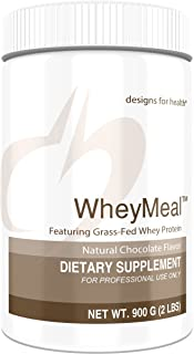 Designs for Health WheyMeal - Chocolate Grass Fed Whey Protein Powder with 16g Protein (25 Servings / 900g)