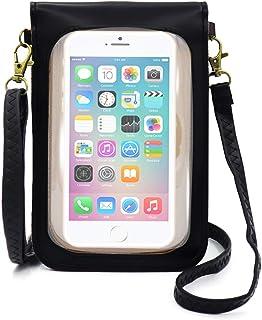 Phone Purse Touch Screen Crossbody Shoulder Bag, Small Wallet Pouch for Samsung, Motorola, LG, Blu, Google, OnePlus, ZenFo...