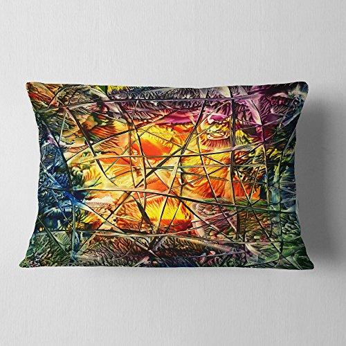 Designart CU6033-12-20 Kissenbezug für Wohnzimmer, Sofa, abstrakt, 30,5 x 50,8 cm, hypoallergene Kisseneinlage + Kissenbezug beidseitig bedruckt
