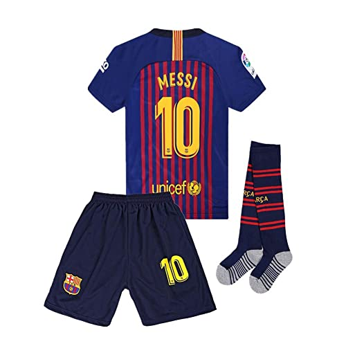 c58bd74699f BBGXJHAAX 18 19 Home Barcelona  10 Messi Soccer Jersey Kids and Youth Color  Red