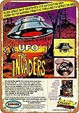 CDecor The Invaders UFO Model Blechschilder, Metall Poster,