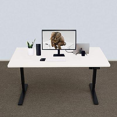 Festnight Mesa de Oficina Escritorio Mesa Madera Mesa de Ordenador ...