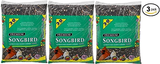 3-D Pet Products Premium Songbird Food Dry Bird Food, 7 LB - Pack of 3