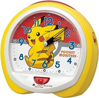 セイコークロック 置き時計 黄 本体サイズ:13.0×14.0×9.6cm ポケットモンスター ピカチュウ アナログ 切替式 CQ421Y