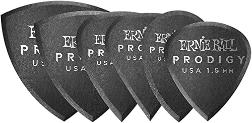 1.5mm Negro Multipack Prodigy Púas 6 por paquete