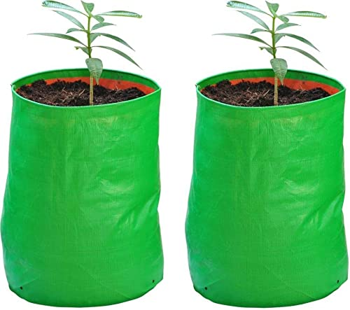 """YUVAGREEN Terrace Gardening Leafy Vegetable Green Grow Bag (18"""" x 18"""") - Pack of 2"""
