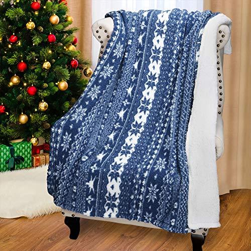 Catalogna Christmas Coperta in Pile, Shu Vellutino Lana soffice Coperta, Reversibile Morbido Caldo Coperta per Divano Letto, 155cm x 127cm (154,9x 127cm)