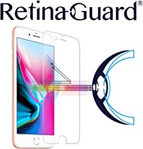 RetinaGuard iPhone 8 Plus Anti Blue Light Tempered Glass Screen Protector (Transparent), SGS and Intertek Tested, Blocks Excessive Harmful Blue Light, Reduce Eye Fatigue and Eye Strain