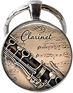 HE PING, Portachiavi per clarinetto e Musicale, Idea Regalo per Musicisti