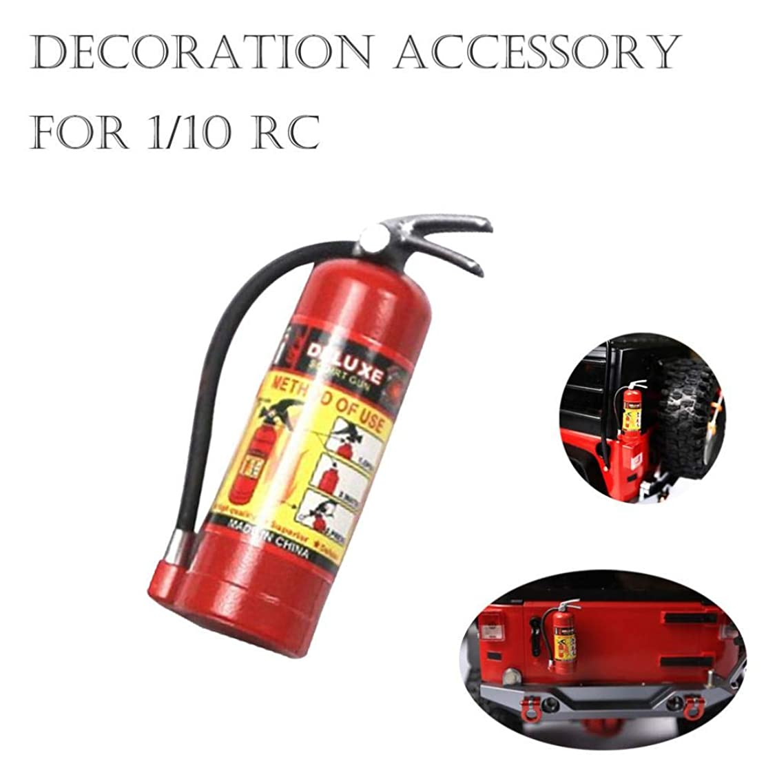 Lywey Decoration for 1:10 Scale RC Crawler Accessory Parts Fire Extinguisher Model for Axial SCX10 TRX4 D90 with Sticker (with Label) liaxcfav4