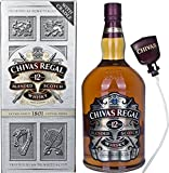 Chivas Regal Scotch 12 Year Old Scotch Whisky with Pump and Gift Bag
