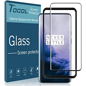 ZENGMING Tempered Glass Film Screen Protector 25 PCS 9H 5D Full Glue Full Screen Tempered Glass Film for OnePlus 7 Anti-Scratch