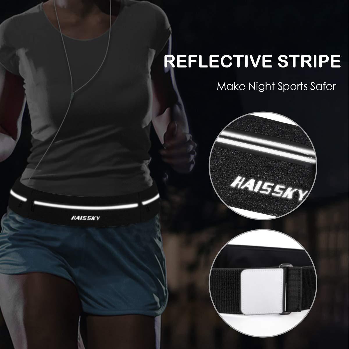 Orificio para Auricular. ORKNEY Ri/ñonera Deportiva Running Impermeable y Ligera Mujer Hombre con Bandas Refectantes