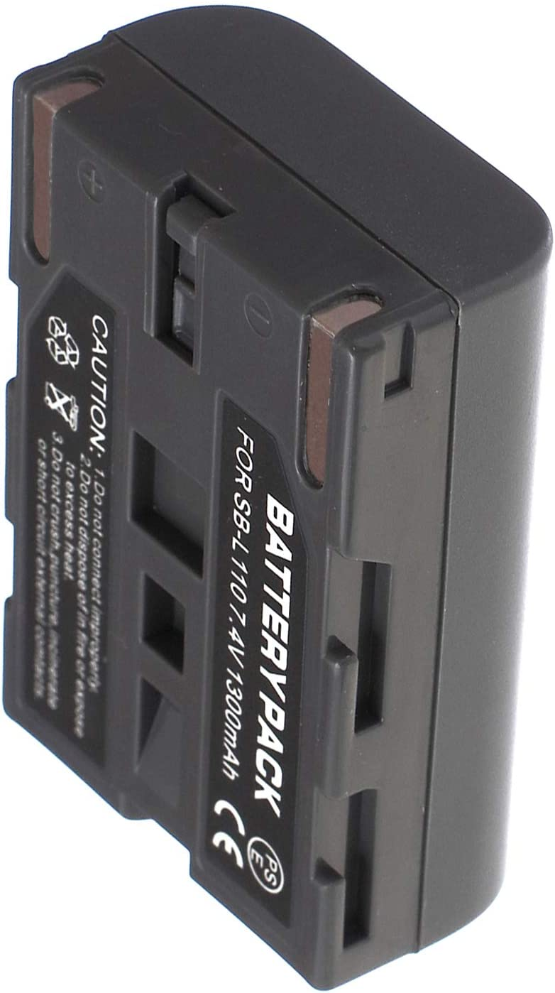 SCD77 Digital Video Camcorder Battery Pack and LCD USB Travel Charger for Samsung SCD70 SCD73 SCD71 SCD75