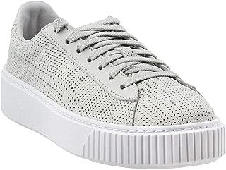 PUMA Women's Basket Platform Perforated Sneakers