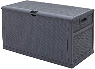 Amazon Com Grey Deck Boxes Outdoor Storage Patio