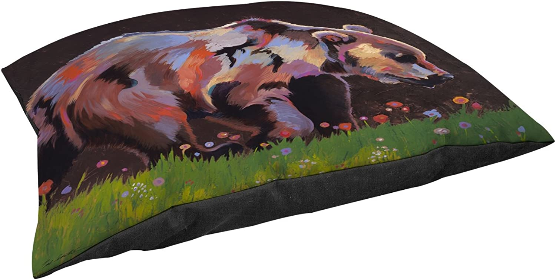 Manual Woodworkers & Weavers Indoor Outdoor Large Breed Pet Bed, Copper Bear, Brown