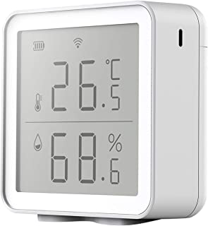 Fenteer Wifi LCD Indoor Thermometer Digital Hygrometer Temperature Humidity Display DC4.5V