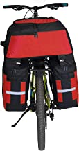 Alforjas para Bicicletas,Alforja Maletero Impermeable, 3 Compartimentos para Portaequipajes Asiento Trasero de Bicicleta de Carretera Bicicleta Pannier