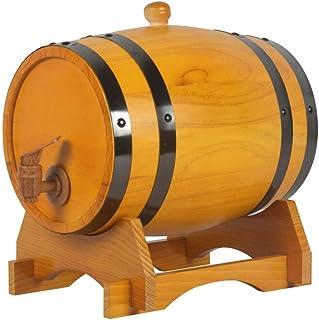 Tonneau à vin en bois Tonneau à vin en bois de chêne, Distributeur de fûts de vin 3L / 5L / 10L Baril de stockage Baril de...