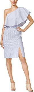 Bar III Womens One Shoulder Knee-Length Casual Dress