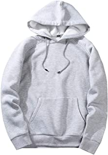 RkYAO Mens Hoodie Pockets Raglan Sleeve Stitching Casual Sweatshirt