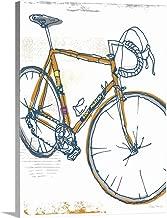 Eddy Merckx Bike Illustration Canvas Wall Art Print, 12