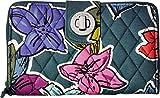 Vera Bradley Women's Rfid Turnlock Wallet Falling Flowers One Size