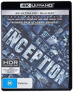 Inception 4K UHD Blu-ray / Blu-ray | Christopher Nolan s | NON-USA Format | Region B Import - Australia