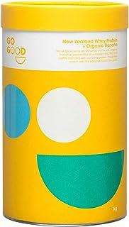 Go Good ホエイプロテイン 牧草飼育 グラスフェッド WPC オーガニック有機フレーバー 無添加 (海外直送品) (バナナ, 1kg)